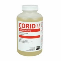 Corid  9.6% amprolium,  16 oz. liquid      (not for sale in California)