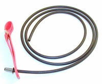 Doubled nylon hitch on rubber cord - plain end