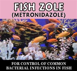 Fish-Zole (metronidazole) 250mg  30 tablets (Canker Tablets)