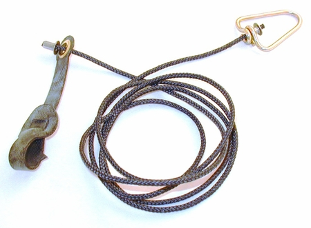 Long neoprene STAG hitch on nylon cord with metal swivel (EACH)