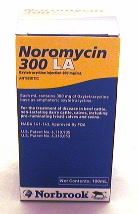 Noromycin 300 LA  300mg/ml 100ml injectable (oxytetracycline)