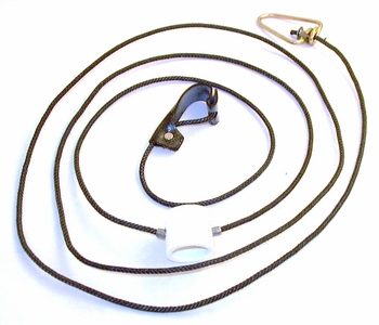 Nylon cord SLIP hitch on nylon cord with metal swivels (DOZEN)