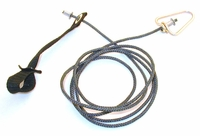 Nylon Hitch on Nylon Cord with Metal Swivels