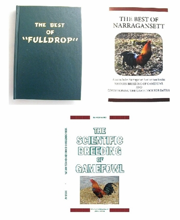 Package Deal (15% off) Best of Fulldrop, Best of Narragansett, and Scientific Breeding of Gamefowl