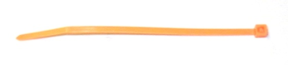 Plastic cable tie leg band    100 ORANGE