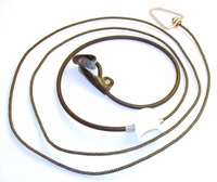 Rubber cord SLIP hitch on nylon cord with metal swivel