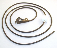 Rubber cord SLIP hitch on rubber cord - plain end