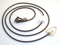 Rubber cord SLIP hitch on rubber cord with metal swivel