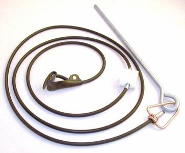 Rubber cord SLIP hitch on rubber cord with metal swivel & stake (EACH)