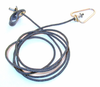Short neoprene COCK hitch on nylon cord with metal swivels (DOZEN)