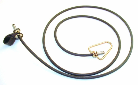 Short neoprene COCK hitch on rubber cord with metal swivel (DOZEN)