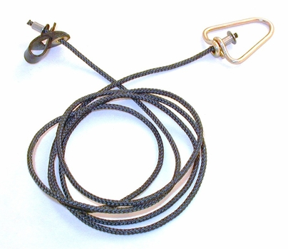 Short neoprene STAG  hitch on nylon cord with metal swivel (EACH)