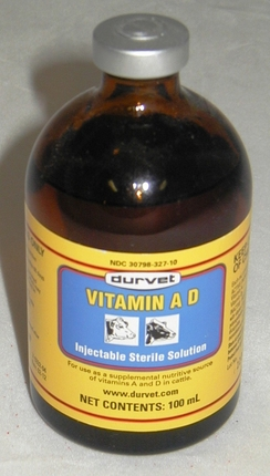 Vitamin A & D  100ml injectable