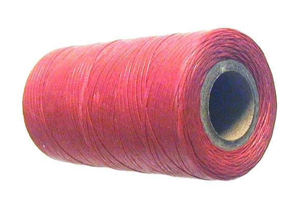 Waxed tie string  250 yard RED