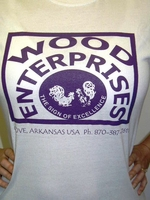 White T-Shirt with purple logo