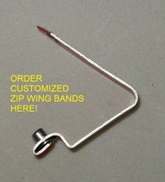 Zip #890 wing bands  **Customized** (click to see pricing)