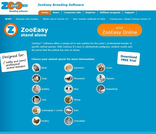 50 - Zoo Easy Breeding Records Software