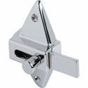 BATHROOM PARTITION DOOR CHROME PLATED SURFACE MOUNTED DIAMOND SHAPED SLIDE LATCH