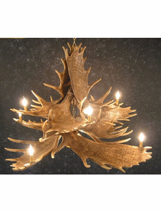 10 ANTLER MOOSE CHANDELIER