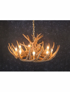 12 ANTLER WHITETAIL DEER CHANDELIER