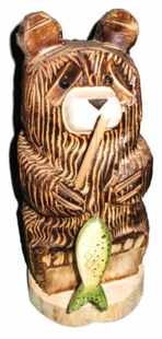 "18"" FISHING BEAR CHAINSAW CARVING"