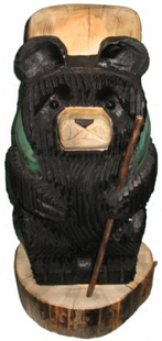 """18"""" HIKING BEAR CHAINSAW CARVING"""