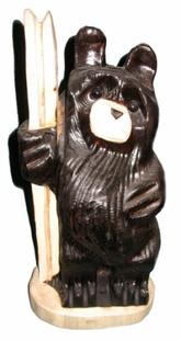 "18"" SKIING BEAR CHAINSAW CARVING"