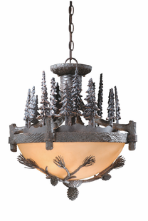 "20"" SPRUCE FOREST PENDANT / FLUSH MOUNT"