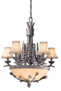 "29"" SPRUCE FOREST CHANDELIER"