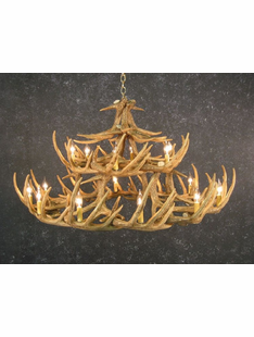 30 ANTLER WHITETAIL DEER CHANDELIER
