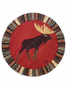 "36"" Round Hooked Wool Rugs"