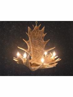4 ANTLER MOOSE CHANDELIER