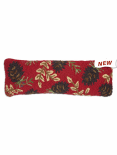 """8""""X24"""" RUBY CONES HOOKED PILLOW"""
