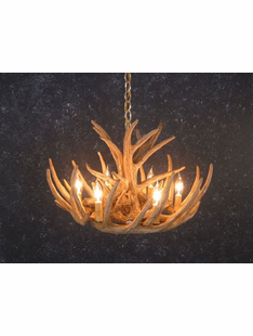 9 ANTLER WHITETAIL DEER CHANDELIER