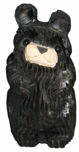 "9"" BEAR TILTING HEAD CHAINSAW CARVING"