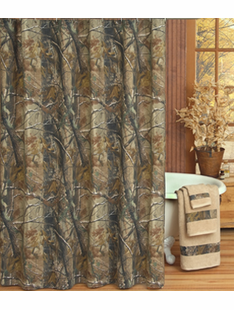 ALL PURPOSE CAMO SHOWER CURTAIN