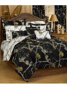 AP BLACK CAMO BED SET QUEEN