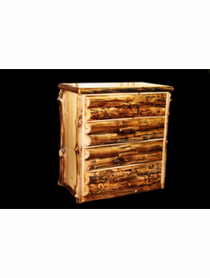 ASPEN  4 DRAWER CHEST HALF LOG