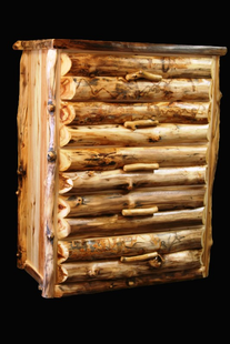 ASPEN  CHEST 5 DRAWER  HALF LOG