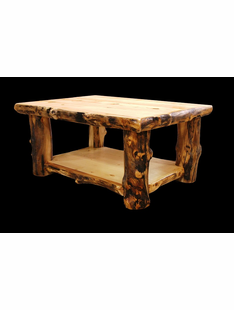 ASPEN COFFEE TABLE WITH SHELF- 30 X 48 X 17H
