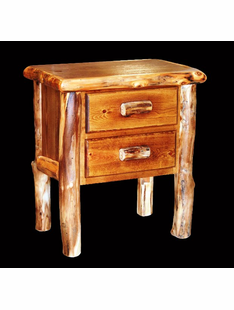 ASPEN NIGHTSTAND WITH TWO DRAWERS