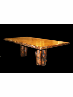 ASPEN TABLE WITH 2 STUMP BASE