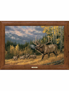 Autumn Song � Elk Framed Canvas Art Print