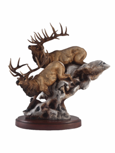 """BACK COUNTRY"" ELK SCULPTURE"