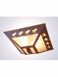 "BAND OF MOOSE CEILING DROP MOUNT- 7.5""H X 17"" X 17.5""W"