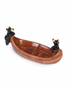 Bear Canoe Divided Dish