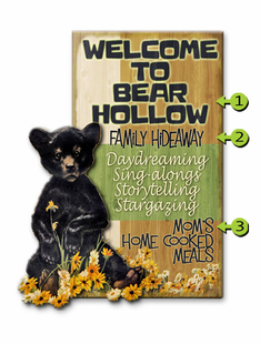 BEAR CUB PERSONALIZED SIGN