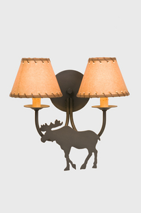 BEAR DOUBLE ARM WALL SCONCE