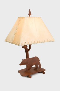 "BEAR SHASTA TABLE LAMP 22""H X 16"" X 12""W"