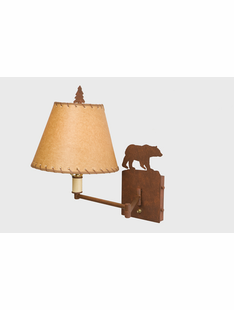 BEAR  SINGLE ARM WALL SCONCE
